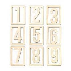 Abbellimenti in legno Studio Calico - Numeri Riquadro