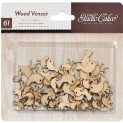 Abbellimenti in legno Studio Calico - Uccelli