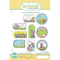 Timbri Cling Taylored Expressions - Totally Tags Spring