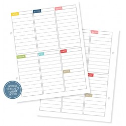 Simple Stories - Snap! - Weekly Planner Insert