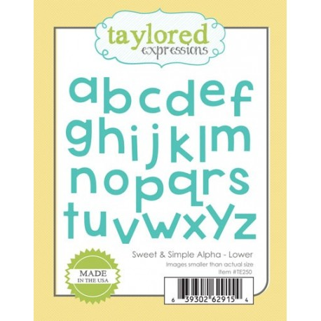 Fustella Taylored Expressions - sweet & simple alpha - lower