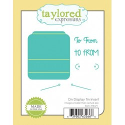 Fustella Taylored Expressions - On Display Tin Insert