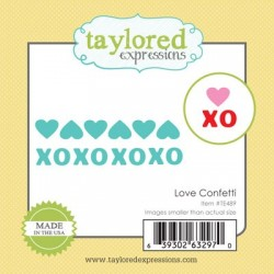 Fustelle Taylored Expressions - Little Bits - Love Confetti