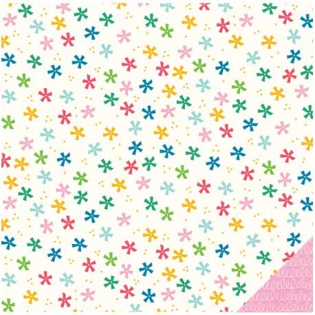 Carta American Craft Pebbles - Birthday Wishes - Confetti