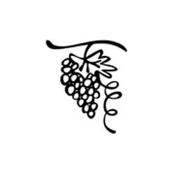 Timbro legno Impronte D'Autore - Grappolo d'uva