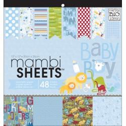 Pacco 48 fogli Me&My Big Ideas - Mambi Sheets - Oh Baby Boy