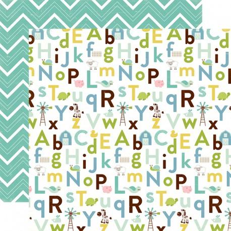 Carta Echo Park - Bundle of Joy - Baby Boy alphabet