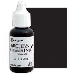 Flacone Inchiostro Ranger Archival Ink - Jet Black
