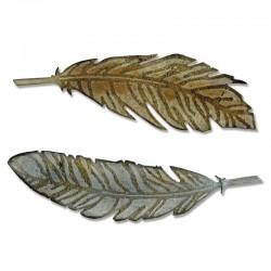 Fustella Sizzix Bigz T. Holtz - Feather Duo