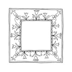 Timbro clear Woodware - Tulip Frame