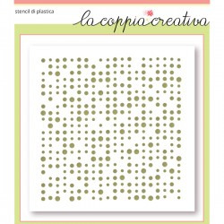 Stencil La Coppia Creativa - Retro Dots