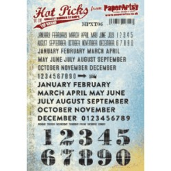 Timbro Cling Paper Artsy Hot Picks - Days and months