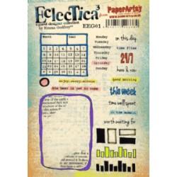 Timbro Cling Paper Artsy Eclectica - Emma GodFrey 01