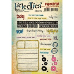 Timbro Cling Paper Artsy Eclectica - Emma GodFrey 02