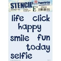 Stencil PaperArtsy - Life