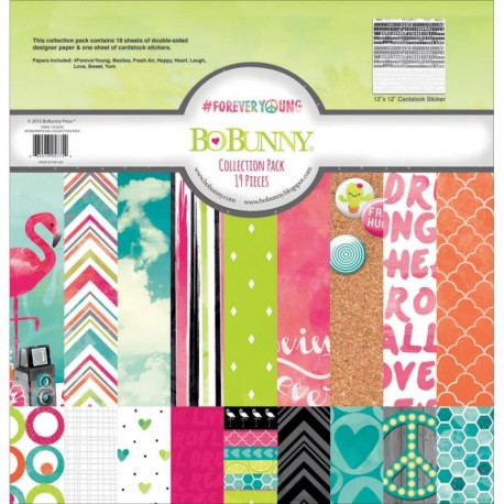 Kit Carte Bo Bunny - ForeverYoung Collection Pack