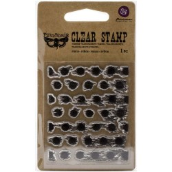 Timbro clear Finnabair - Dot Grunge