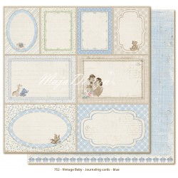Carta Maja Design - Vintage Baby - Journaling Cards - Blue
