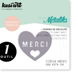 Fustella Kesi'Art - Métaliks Mini Coeur Merci