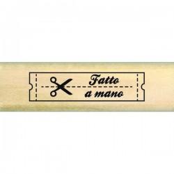 Timbro legno Florileges - Etichetta fatto a Mano