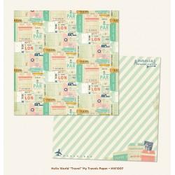 Carta My Mind's Eye - Hello World! - Travel/My Travels Paper