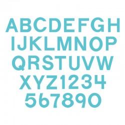 """Fustella Sizzix Bigz  - Block 1 1/2"""" Capital Letters & Numbers"""