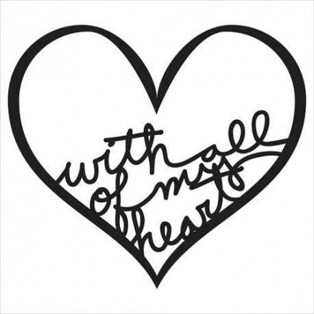 Stencil Balzer Bits - All My Heart Bits