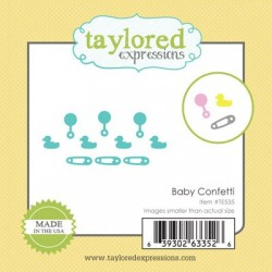 Fustella Taylored Expressions - Baby Confetti