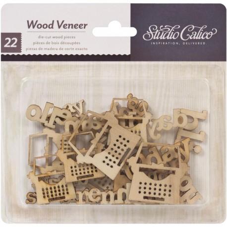 Abbellimenti in legno Studio Calico - Macchine da scrivere