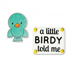 Fustella e Timbro Sizzix - A Little Birdy Told Me