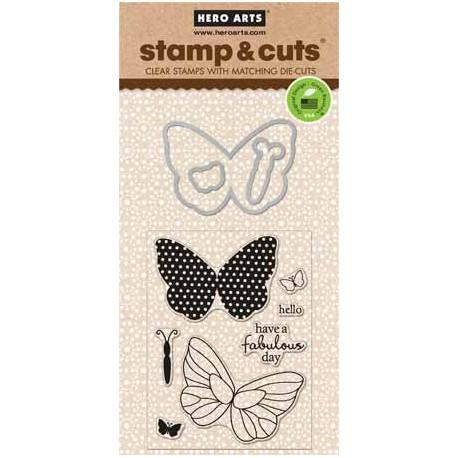 Timbro con Fustella Hero Arts - Butterflies