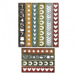 Fustella Sizzix Thinlits T.Holtz - Shape Strips