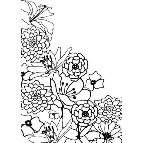 Embossing Folder Nellie Snellen - Hobby Solution - Flower Corner 1
