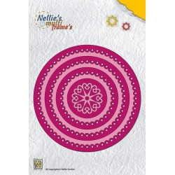 Fustella Nellie Snellen - Round Scalloped