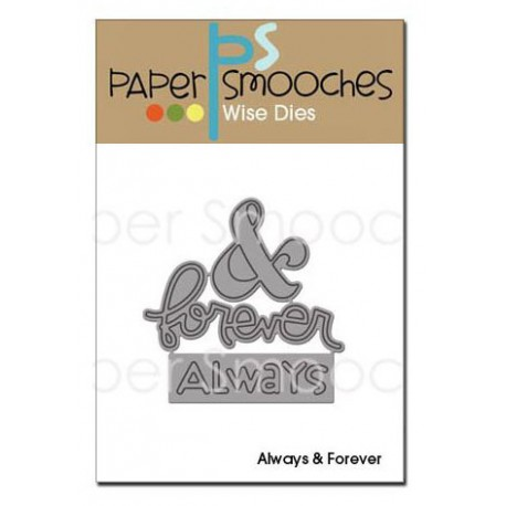 Fustella Paper Smooches - Always & Forever