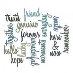 Fustella Sizzix Thinlits T. Holtz - Friendship Words: Script