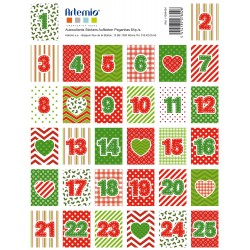 Stickers Artemio - Natale - Calendario Cuori