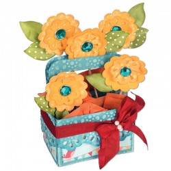 Fustella Sizzix Bigz XL - Card in a Box, A2 Flower Basket