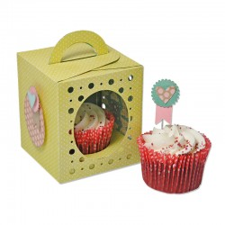 Fustella Sizzix Thinlits Plus - Box, Cupcake
