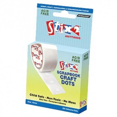 Scrapbook craft glue dots permanent - Stix2