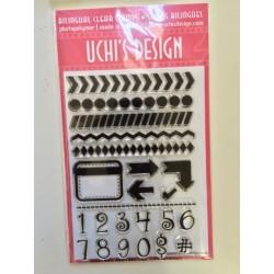 Timbro clear Uchi's Design - Love Borders