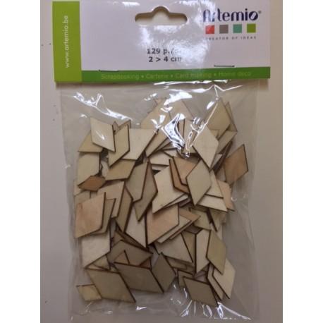 Abbellimenti in legno Artemio - Rombi