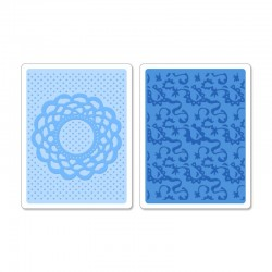 Embossing Folder -  Doily & Lace Set