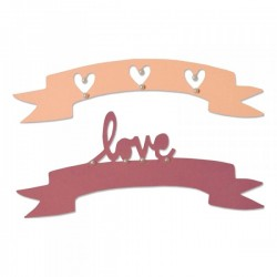 Fustella Sizzix Thinlits - Love & Wishes 2