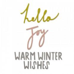 Fustella Sizzix Thinlits - Winter Wishes