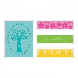 Embossing Folder - Family Tree Set