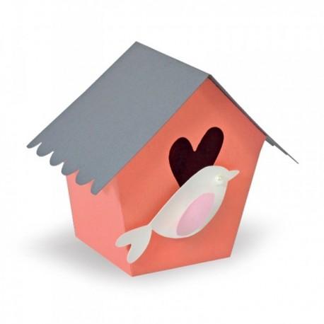 Fustella Sizzix Thinlits Plus - Box, Birdhouse