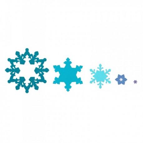 Fustella Sizzix Framelits - Snowflakes