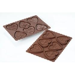 Stampo SilikoMart - Cookie Hearts