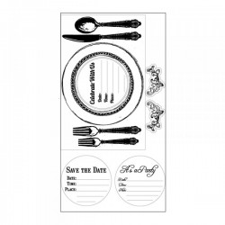Timbro Clear Sizzix - Placemat Invite